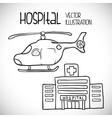 Hospital related icons vector image
