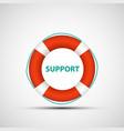 icon lifebuoy vector image
