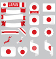 japan flags vector image vector image