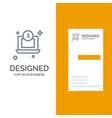 laptop dollar money grey logo design and business vector image vector image