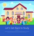 let s get back to stuty cartoon poster vector image
