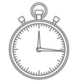 line art black and white sport timer icon vector image