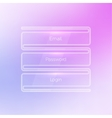 Login form ui element on a beautiful blurred vector image
