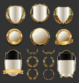 luxury golden labels retro vintage collection 4 vector image