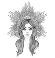 madonna lady sorrow devotion vector image vector image