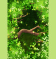 magic forest background vector image vector image