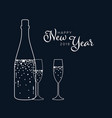 minimalist new year party flyercard template vector image vector image