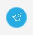 paper plane icon sign symbol vector image vector image