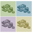 Pile of money stack banknotes vector image vector image