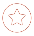 Rating star line icon vector image