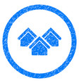 real estate rounded grainy icon vector image