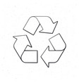 recycling symbol outline vector image