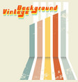 retro design background with colored stripes and vector image vector image