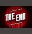 retro style condensed font the end title vector image vector image