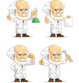 Scientist or Professor Customizable Mascot 2 vector image vector image