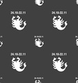Scorpio sign Seamless pattern on a gray background vector image vector image