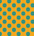 Seamless abstract hexagonal tiles pattern vector image vector image