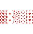 Set of 5 seamless pattern with hearts Valentines vector image vector image