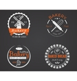 Set of bakery labels icons badges and design vector image vector image