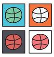 set of unusual look dribbble social media icon vector image vector image