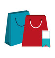shopping bags and tag vector image