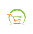 shopping cart abstract buy speed logo vector image vector image