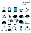 Social Media Icon Network vector image