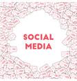 social media icons social media marketing vector image
