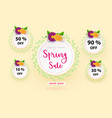 spring sale s banner template with paper flower on vector image vector image