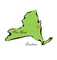 State of New York vector image