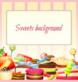 Sweets Food Background vector image vector image