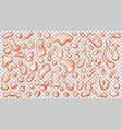 Transparent orange drops vector image