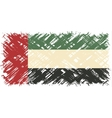 United Arab Emirates grunge flag vector image