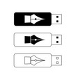 usb flash drives portable data storage vector image vector image