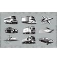 Various Transport Modes Symbol Set vector image vector image