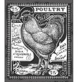 Vintage Poultry and Eggs Advertising on Blackboard vector image vector image