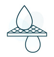 water droplets cleaning through filter vector image vector image