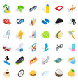 winner icons set isometric style vector image vector image