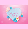 women day background for greeting card vector image vector image