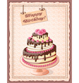 scrapbooking birthday card with cake tier vector image