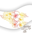 Banner floral ornament vector image