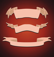 Set of Vintage Ribbons vector image