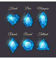Colorful shiny gemstones collection vector image