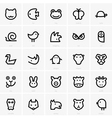Animals icons vector image