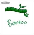 Bamboo logo symbol stylized vector image