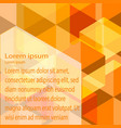 abstract background yellow vector image vector image