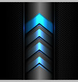 abstract blue arrow power light technology vector image vector image
