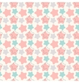 Abstract geometric retro star seamless pattern vector image vector image