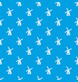 ancient windmill pattern seamless blue vector image vector image