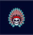 apache skull head